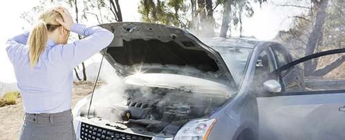 Car engine Smoking